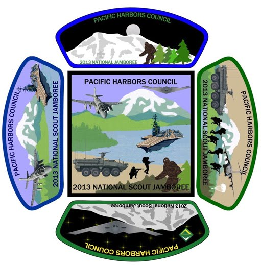 Pacific Harbors Council 2013 Jamboree Patch set