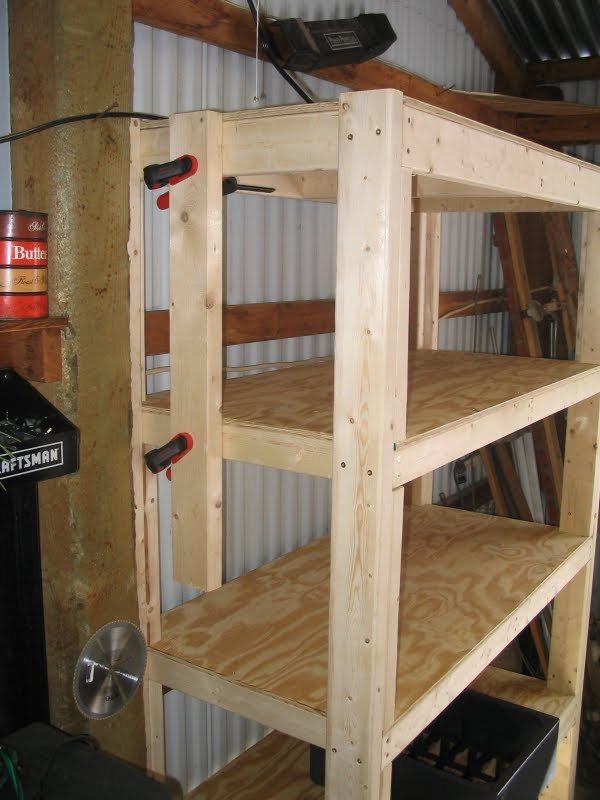 simple garage wood shelf plans