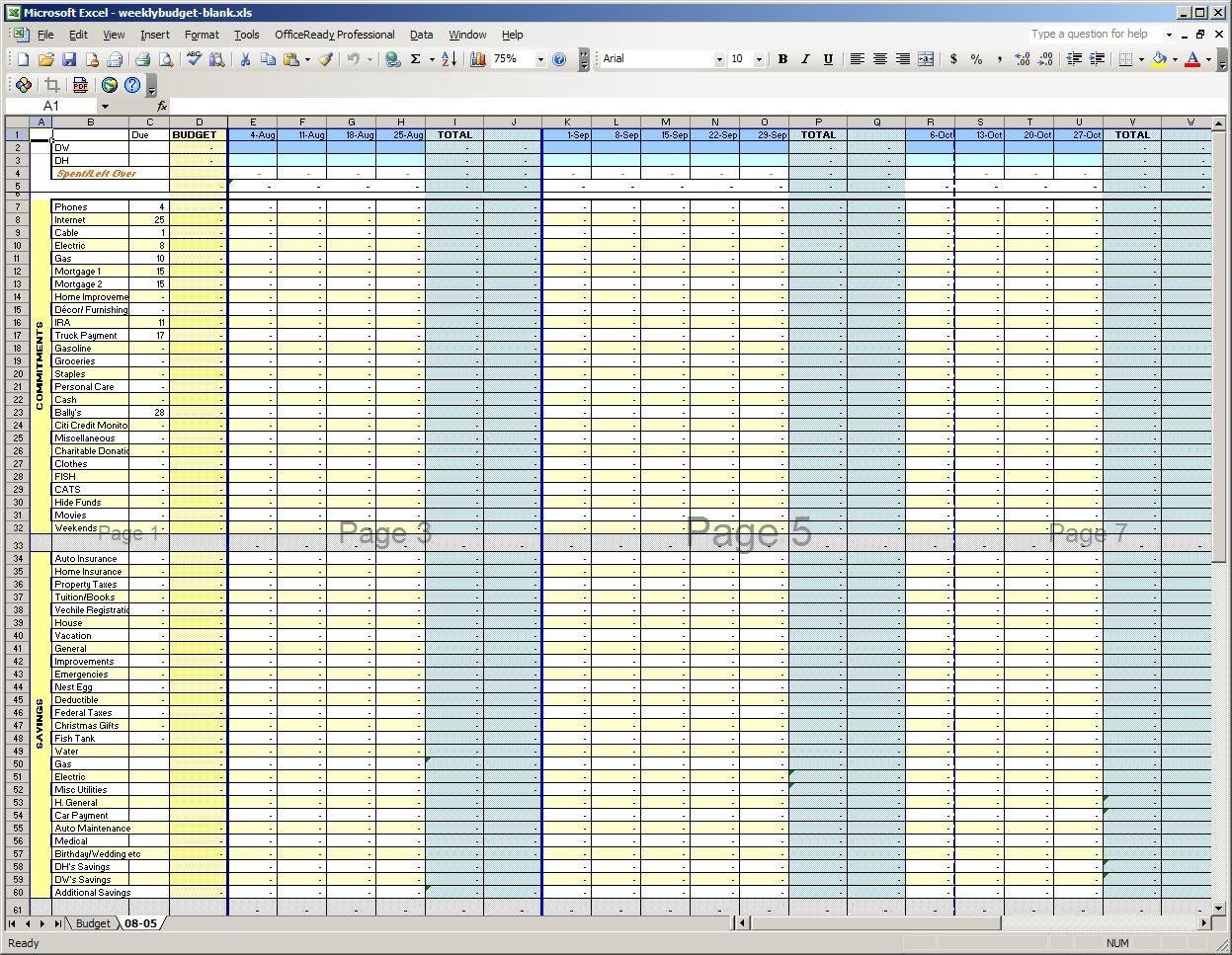 Worksheets Weekly Budget Worksheet bi weekly budget template