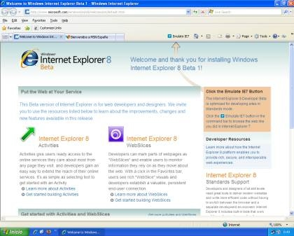 Captura/Screenshot Internet Explorer 8