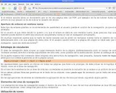 Documento ODT en Firefox
