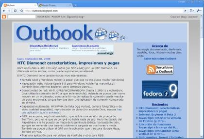 Outbook en chrome