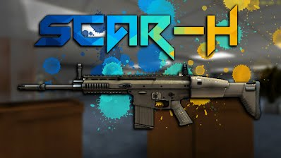 Scar H Bullet Force game weapon