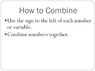 Simplifying Variable Expressions - Combining Like Terms - 7th ...