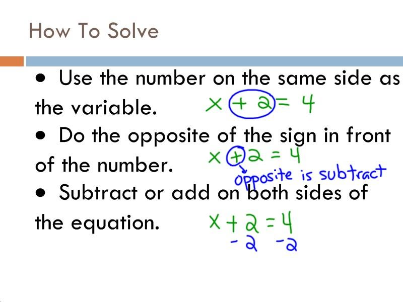 Solving Equations by Adding and Subtracting - 7th Grade Pre ...