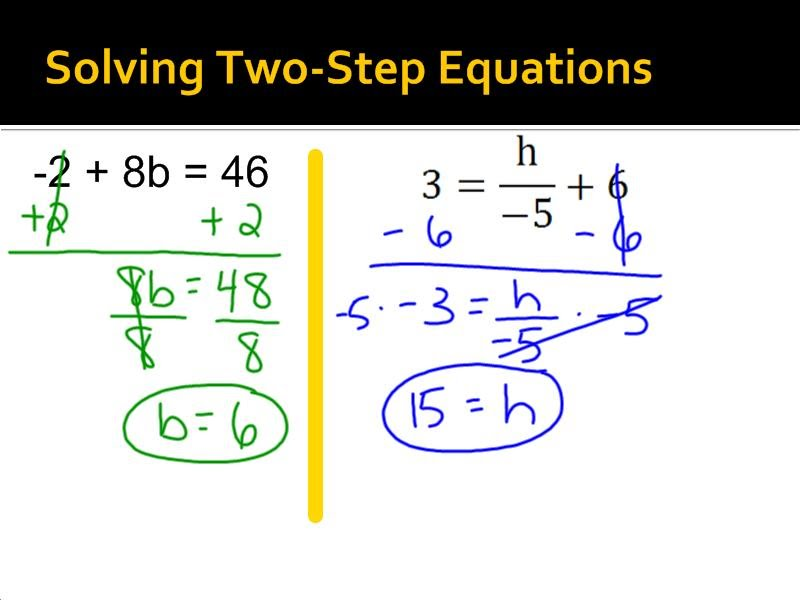 Solving 2-Step Equations - 7th Grade Pre-Algebra - Mr. Burnett