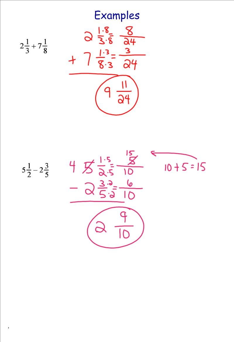 Adding and Subtracting Fractions 7th Grade PreAlgebra Mr Burnett – 7th Grade Pre Algebra Worksheets