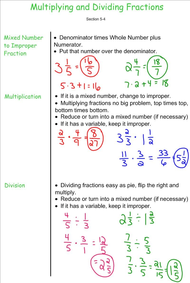 Worksheet How To Divide Fractions And Decimals multplying and dividing fractions 7th grade pre algebra mr fractions
