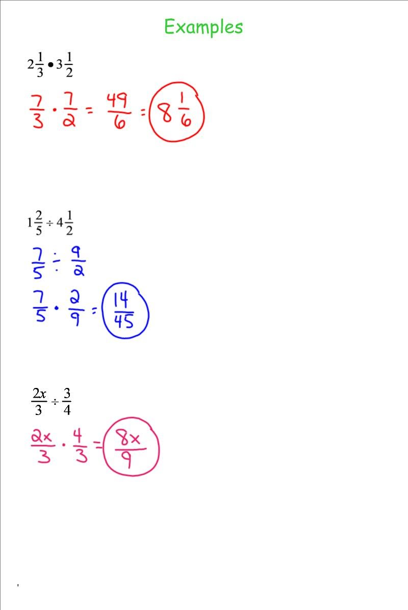 worksheet Divide Fractions multplying and dividing fractions 7th grade pre algebra mr fractions