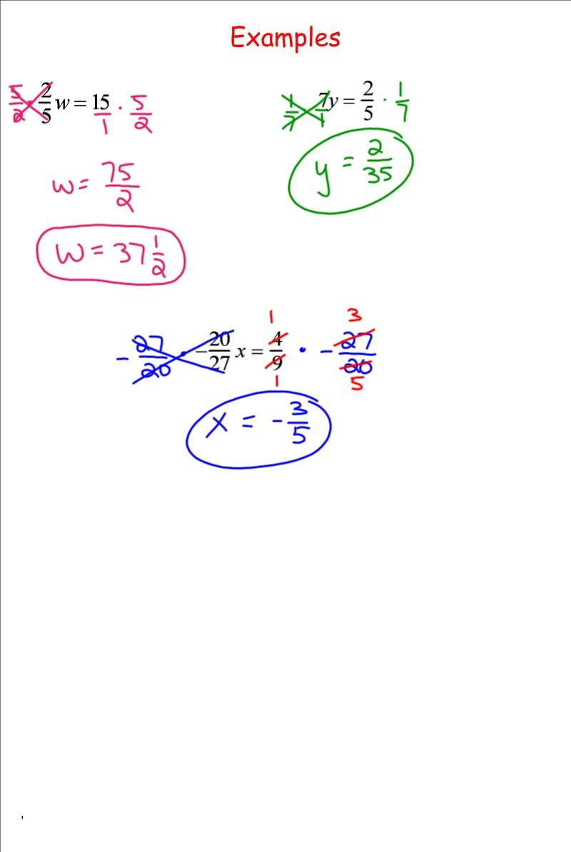 worksheet Multipling Fractions solving equations by multiplying fractions 7th grade pre algebra fractions