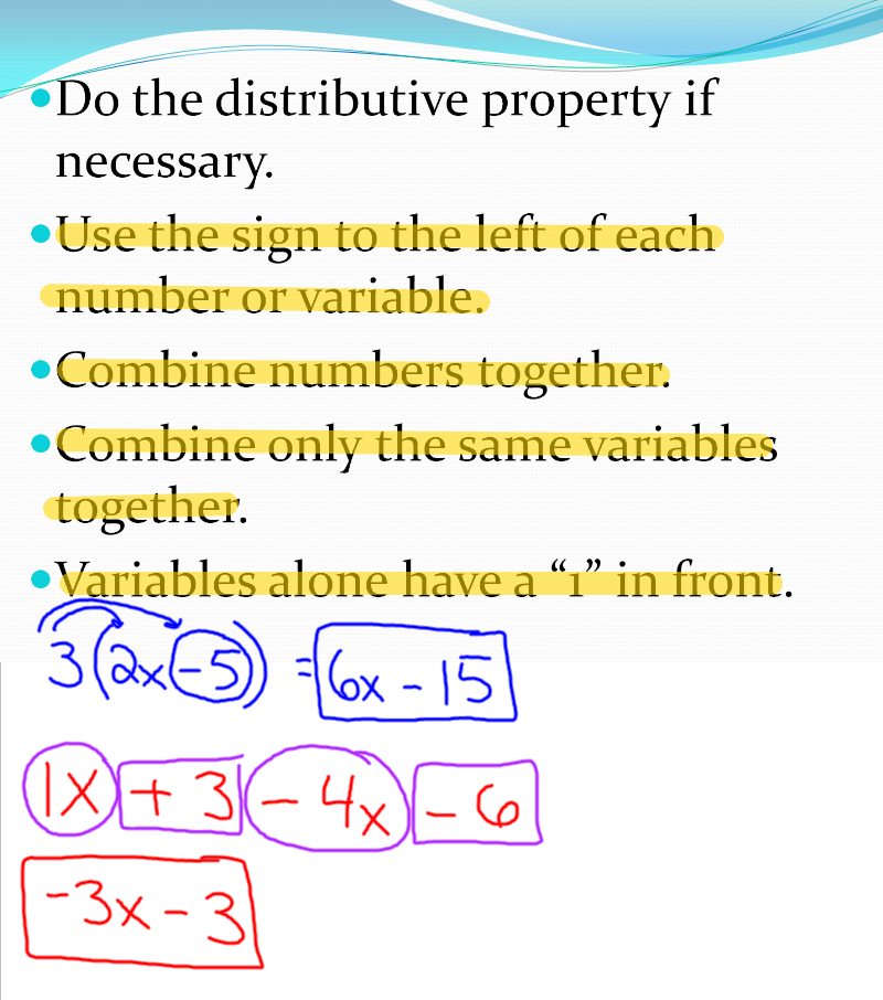 How to solve pre-algebra problems step by step