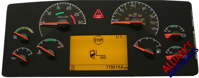 Labeled Instrument Panel For Trucks : Volvo bus coach truck dash onwards commercial