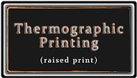 Thermographic Printing Business Card Designs