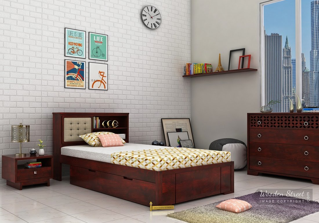 Beautiful Ways Of Decorating A Single Bed Design In Your Abode