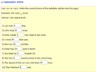 english exercises for articles pdf