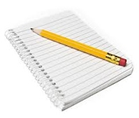 Meeting Note Pad and Pencil