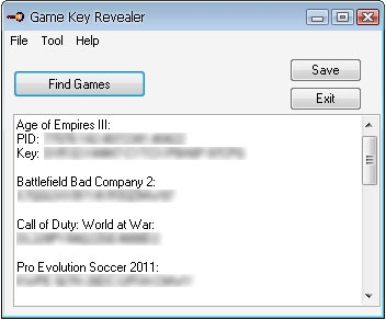 Game Key Revealer full screenshot