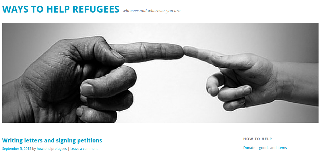 http://howtohelprefugees.org.uk/2015/09/05/writing-letters-and-signing-petitions/