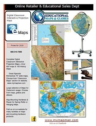 Educational Maps and Globe Advertisement