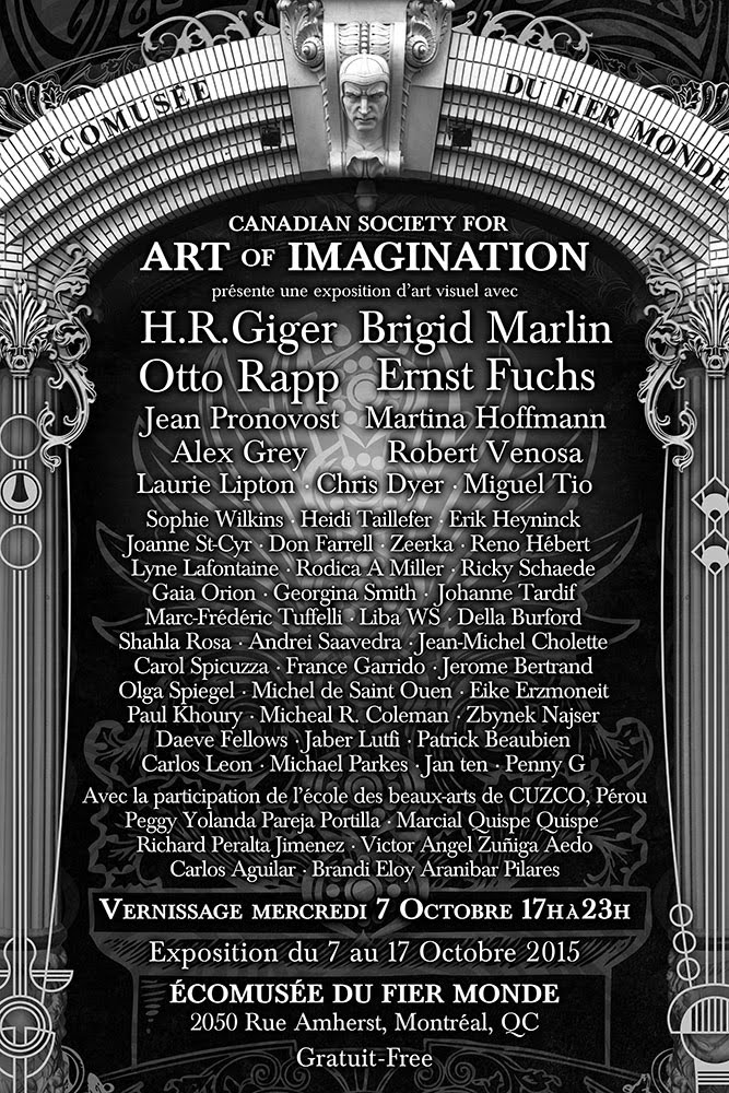 Canadian Society for Art of Imagination Montreal Exhibtion / Expostion 7-17 octobre 2015