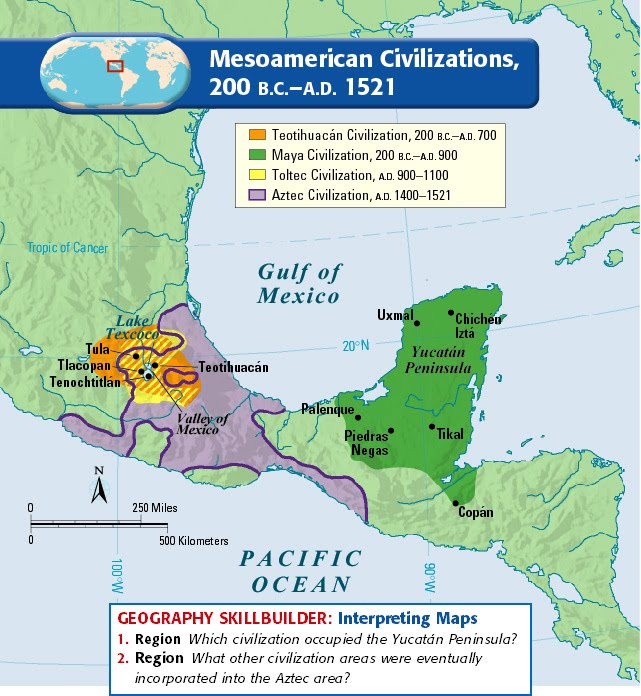 ap ccot mesoamerican cultures Which of the following comparative elements best represents a difference  between andean and mesoamerican cultures during the period 600 to 1450 ce.