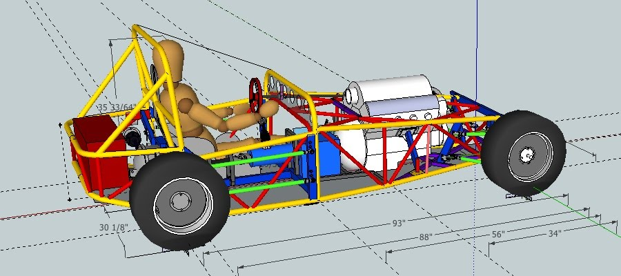 Car9 chassis in SketchUp