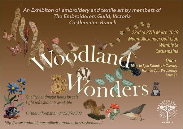 """Poster for our 2019 Exhibition """"Woodland Wonders"""""""