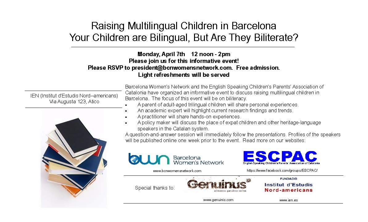 7 April 2014 Biliteracy Event