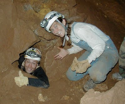 Dave and Tracy caving