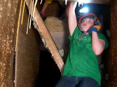 Concentrating while caving!