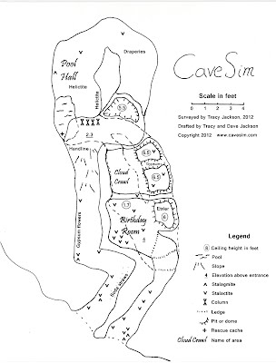 CaveSim map