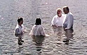 Baptism in Mirror Lake
