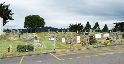 Current view of Marshfield Pioneer Cemetery entrance