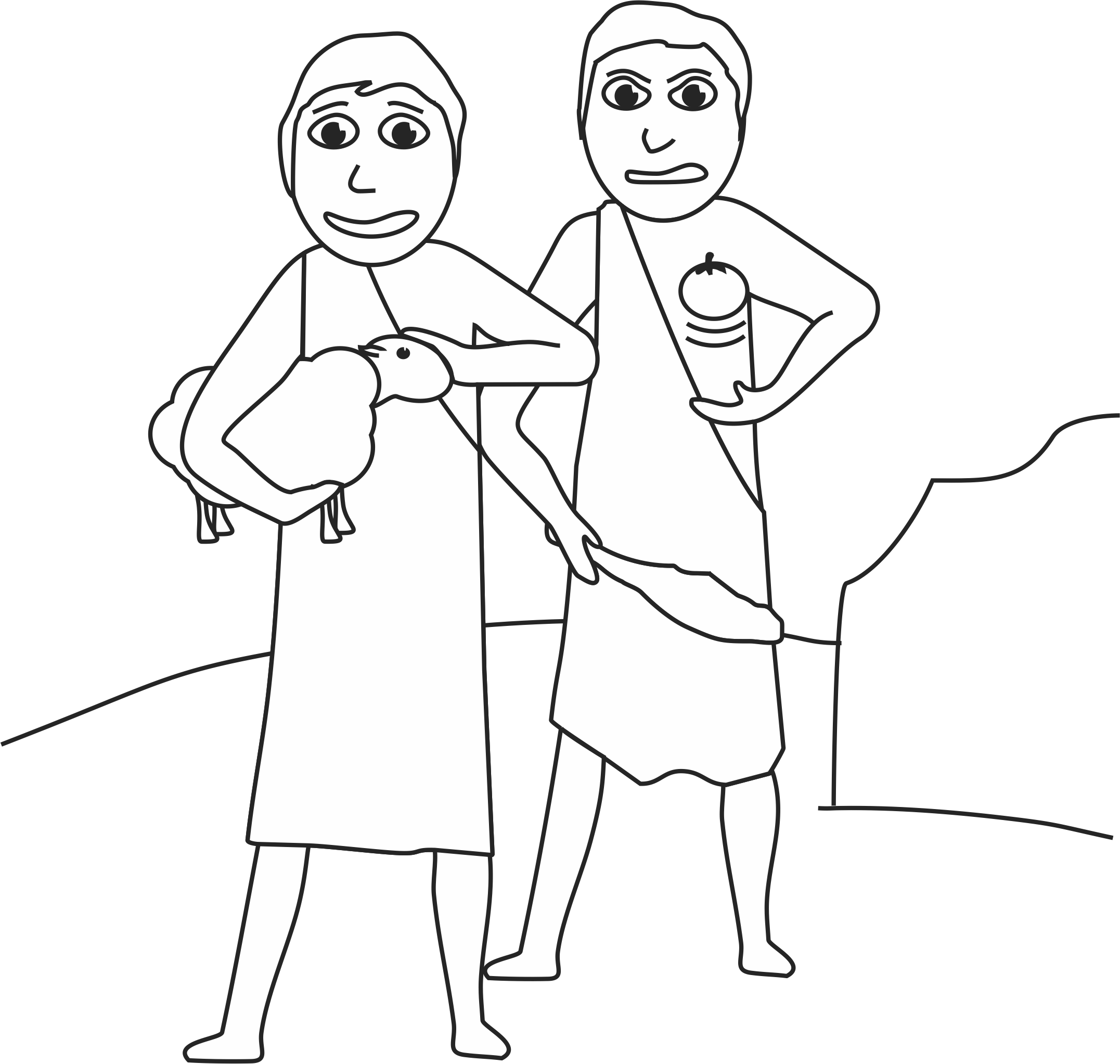cain and abel coloring pages - photo#11
