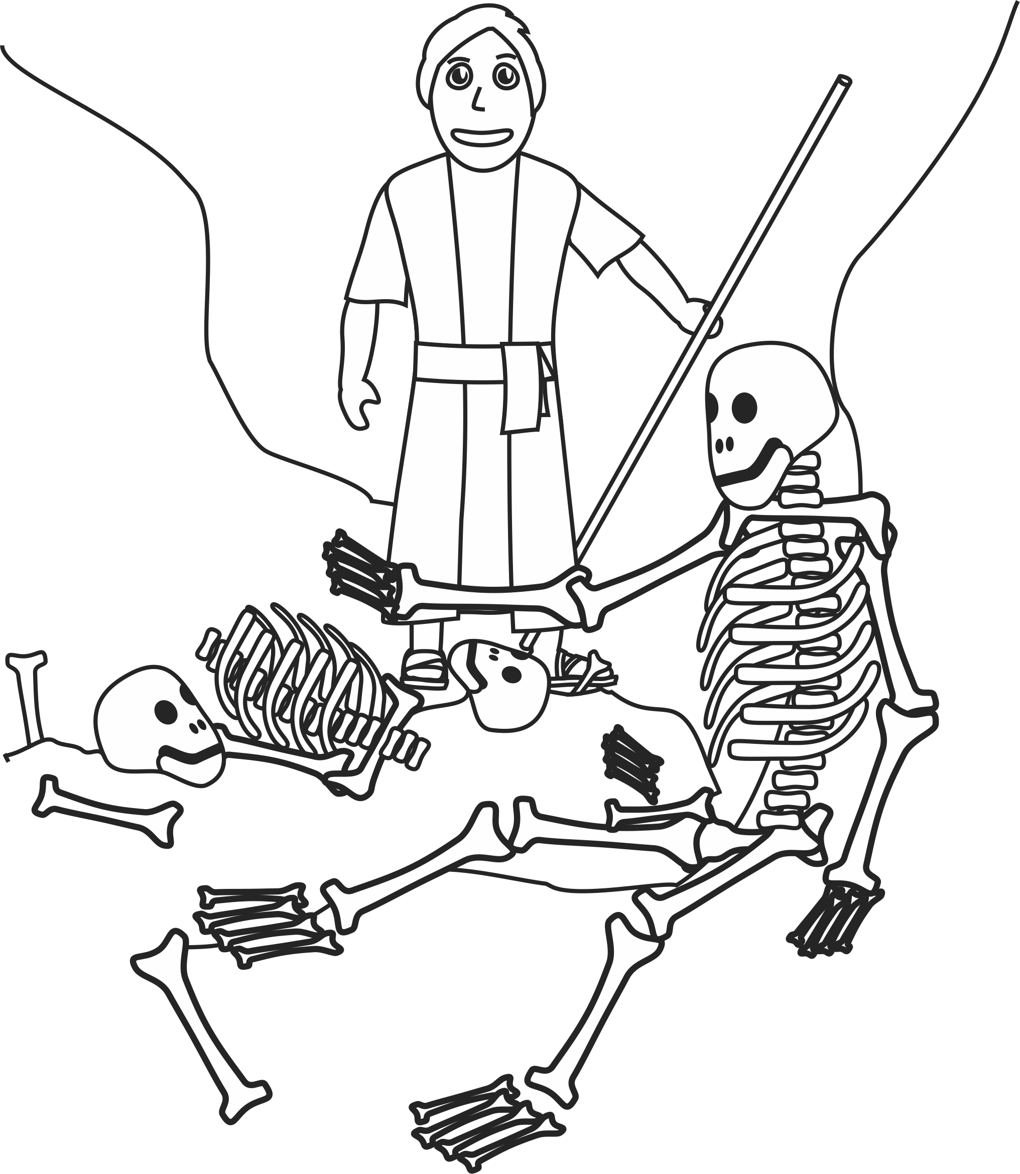 free ezekiel 37 dry bones coloring pages