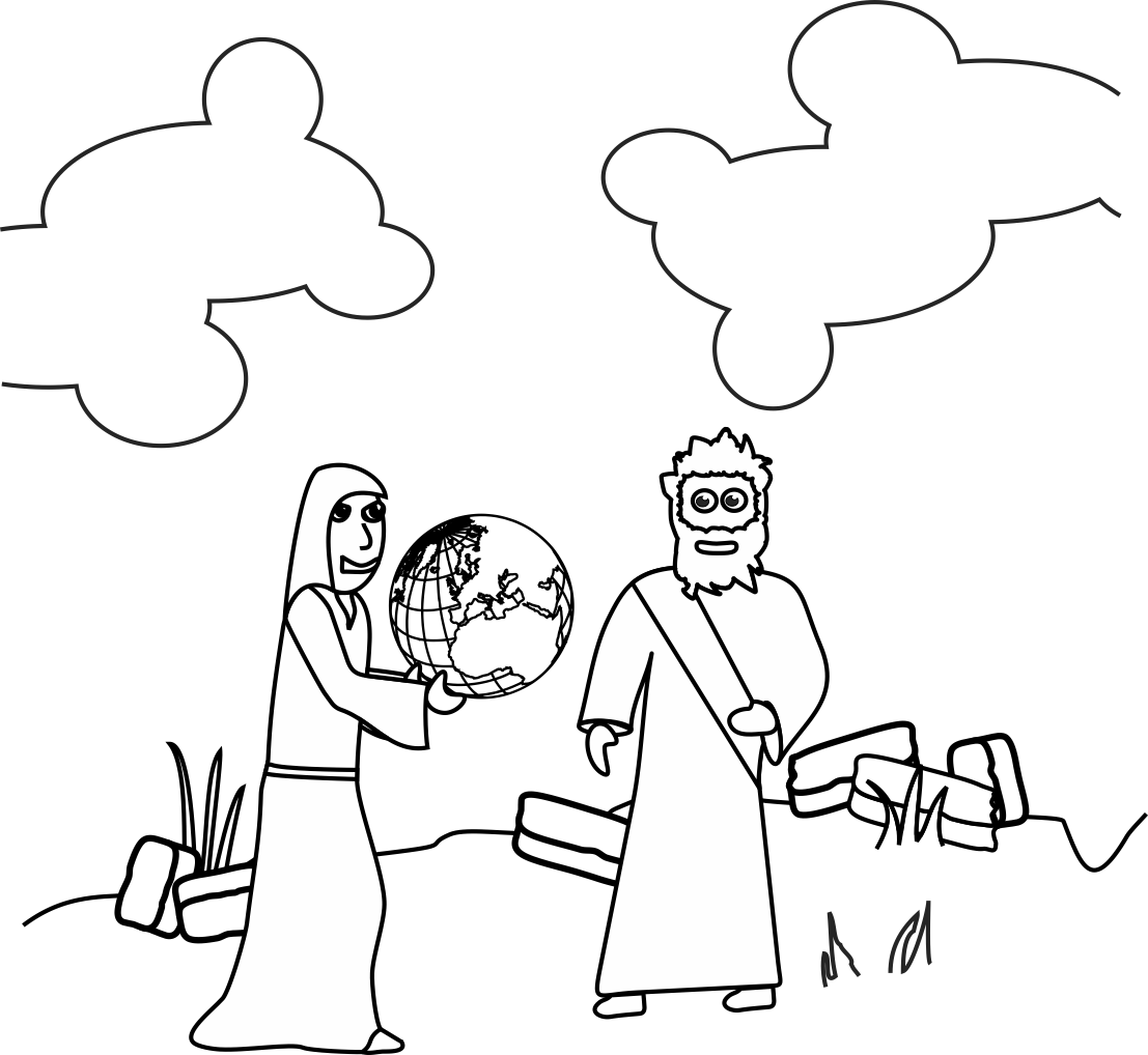 temptation of jesus coloring pages for kids | My Children's Curriculum: October 2015