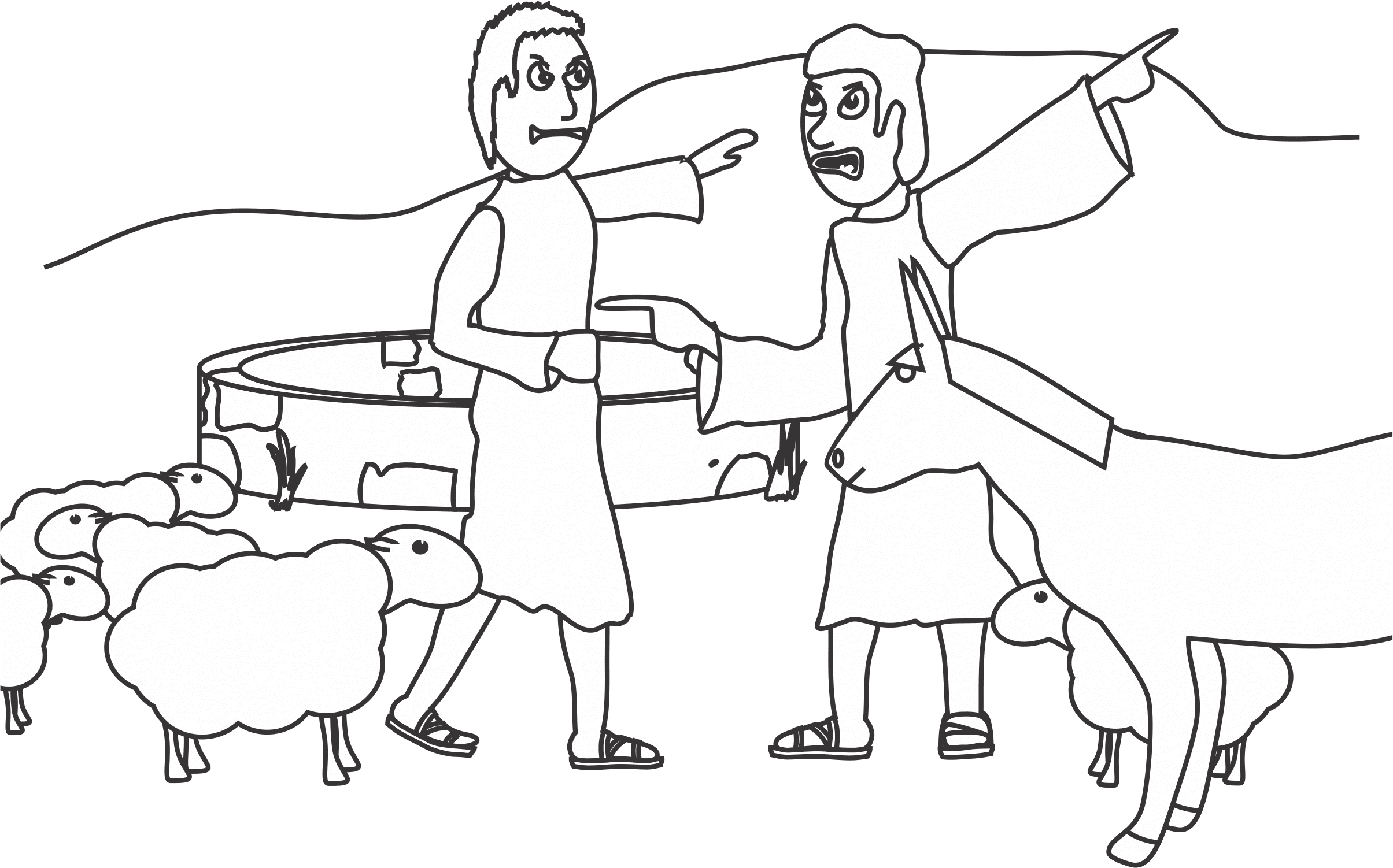 abraham coloring page - my children 39 s curriculum august 2013