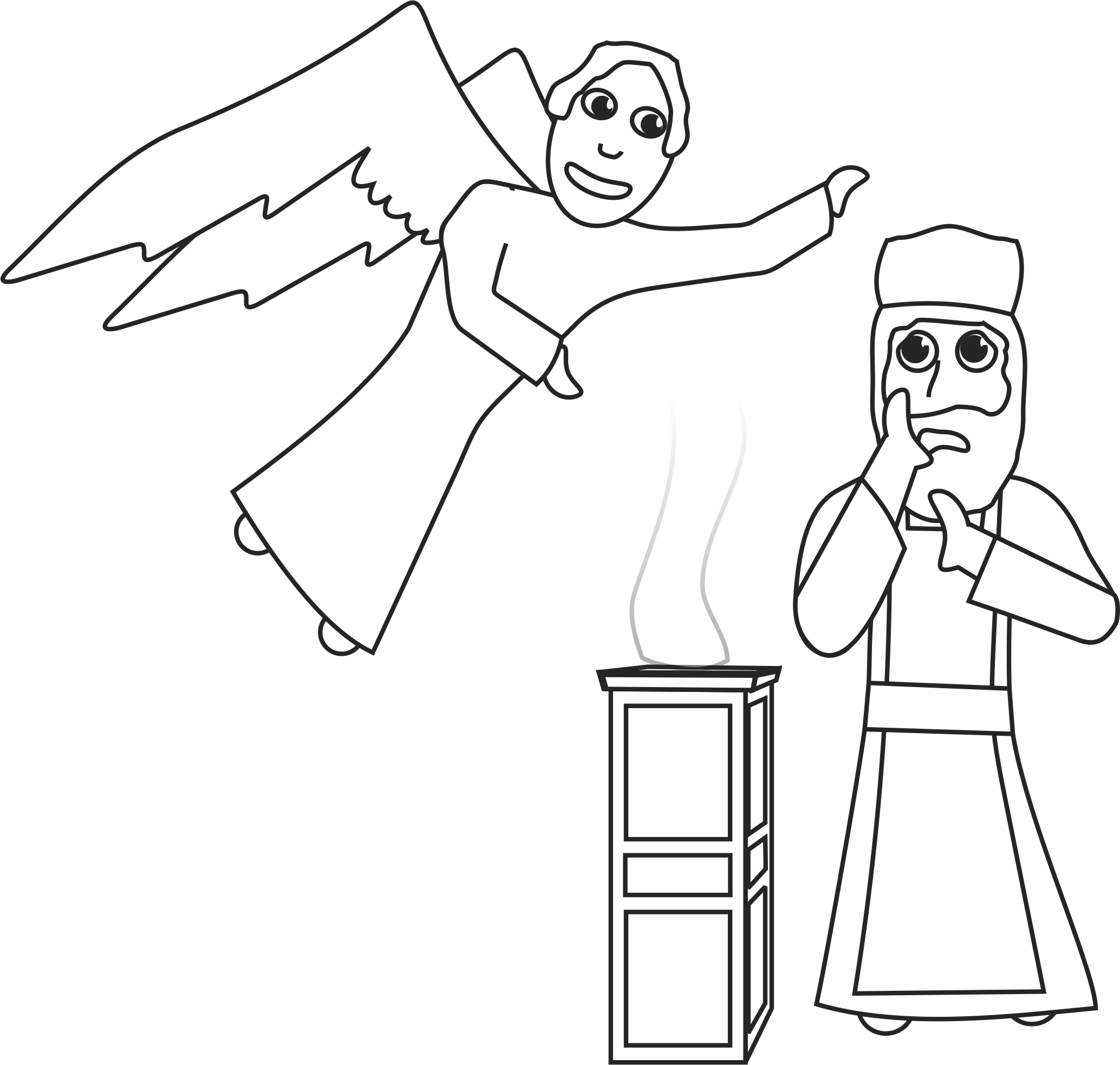 zechariah visions coloring pages - photo#9