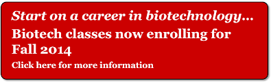 Start on a career in biotechnology