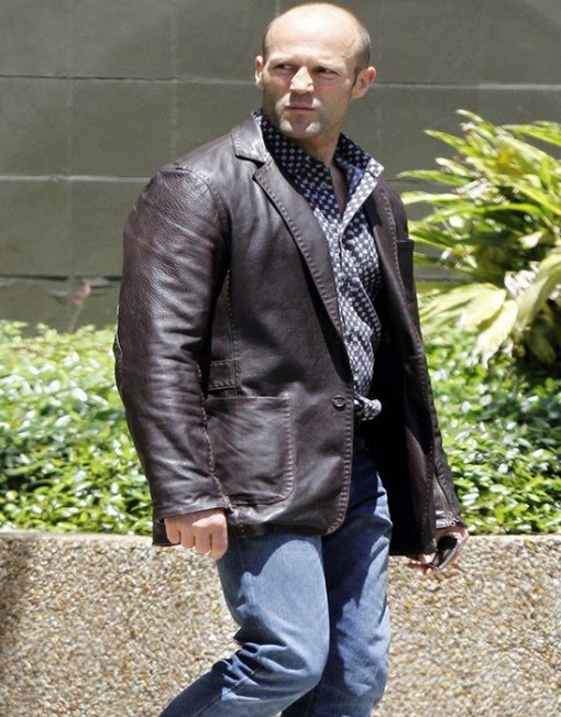 c2fbf6420da Fast And Furious 7 Hollywood stylish personality Jason Statham will again  be playing the character of Ian Shaw and wearisome an brilliant jacket in  ...