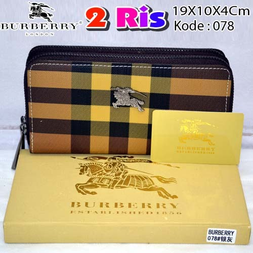 Dompet Burberry 2 Ris 078 Coffee