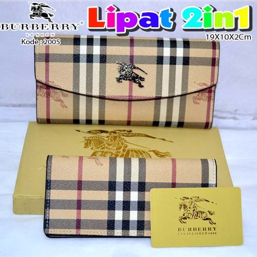 Dompet Burberry Lipat 2in1 2005 Beige