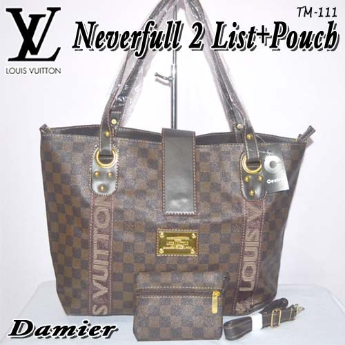 Tas Louis Vuitton Neverfull 2 List + Pouch
