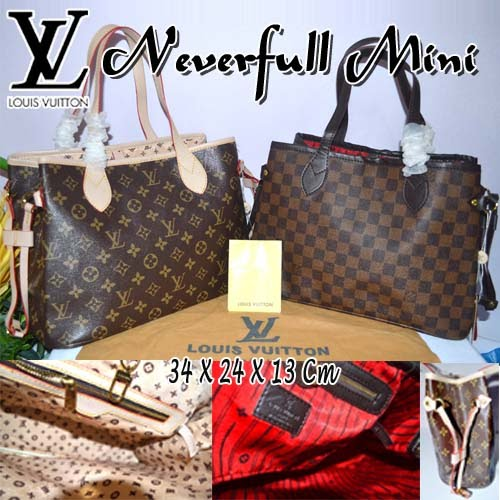 Tas Louis Vuitton Neverfull Mini Semi Super