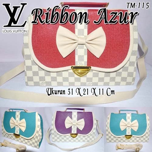Tas Louis Vuitton Ribbon Azur