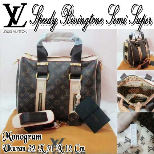 Tas Louis Vuitton Speedy Rivingtone Semi Super