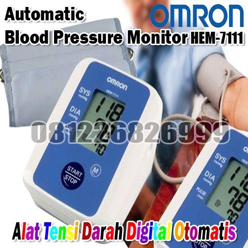 OMRON Automatic Blood Pressure Monitor Model HEM-7111 (Alat tensi darah Digital Otomatis)