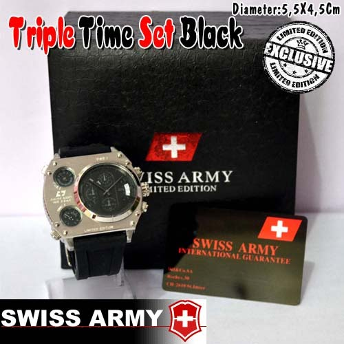 Swiss Army Triple Time Set Black