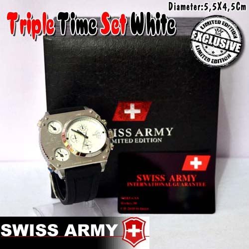 Swiss Army Triple Time Set White