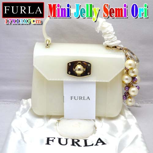 Tas Furla Mini Jelly Putih